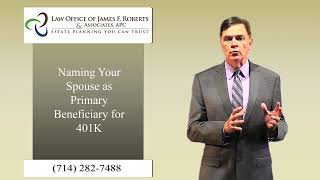 How to name your spouse as IRA beneficiary