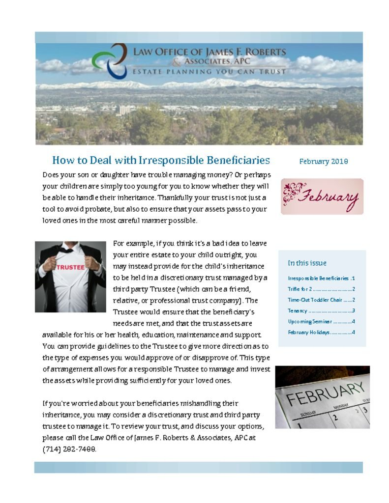 thumbnail of Newsletter February 2018